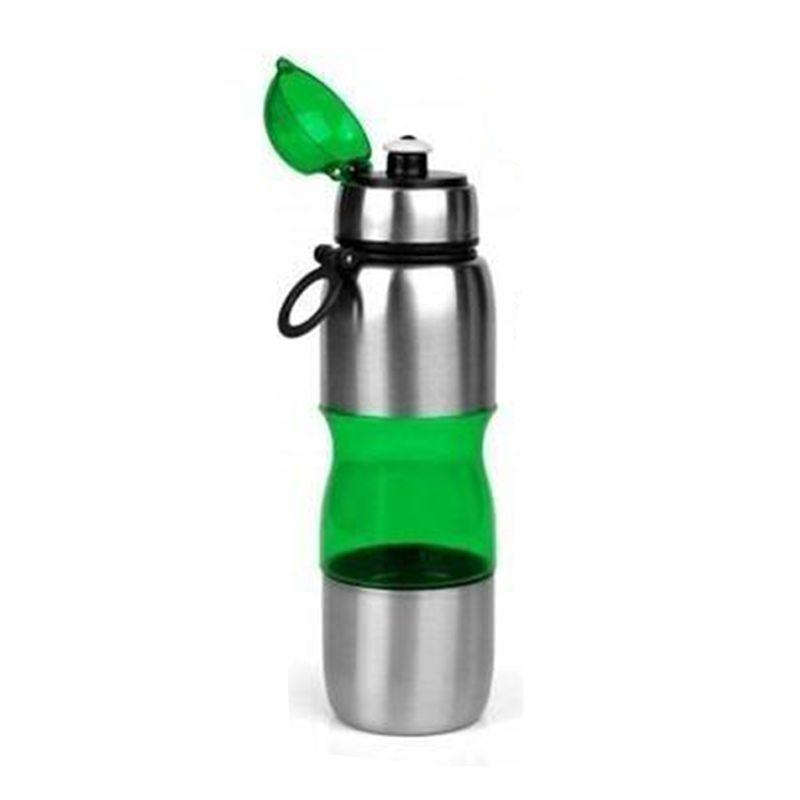 Garrafa de Academia Plástico com Inox 600 ml  - Thata Esportes
