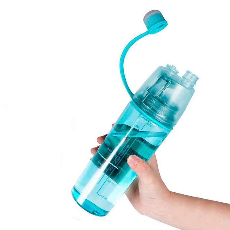 Garrafa de Hidratação e Spray 2 em 1 Pulverizador Fitness Academia Esportes 600 mL  - Mundo Thata