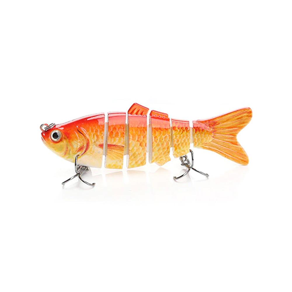 Isca Artificial Articulada Formato de Peixe para Pescaria Modelo 1  - Mundo Thata