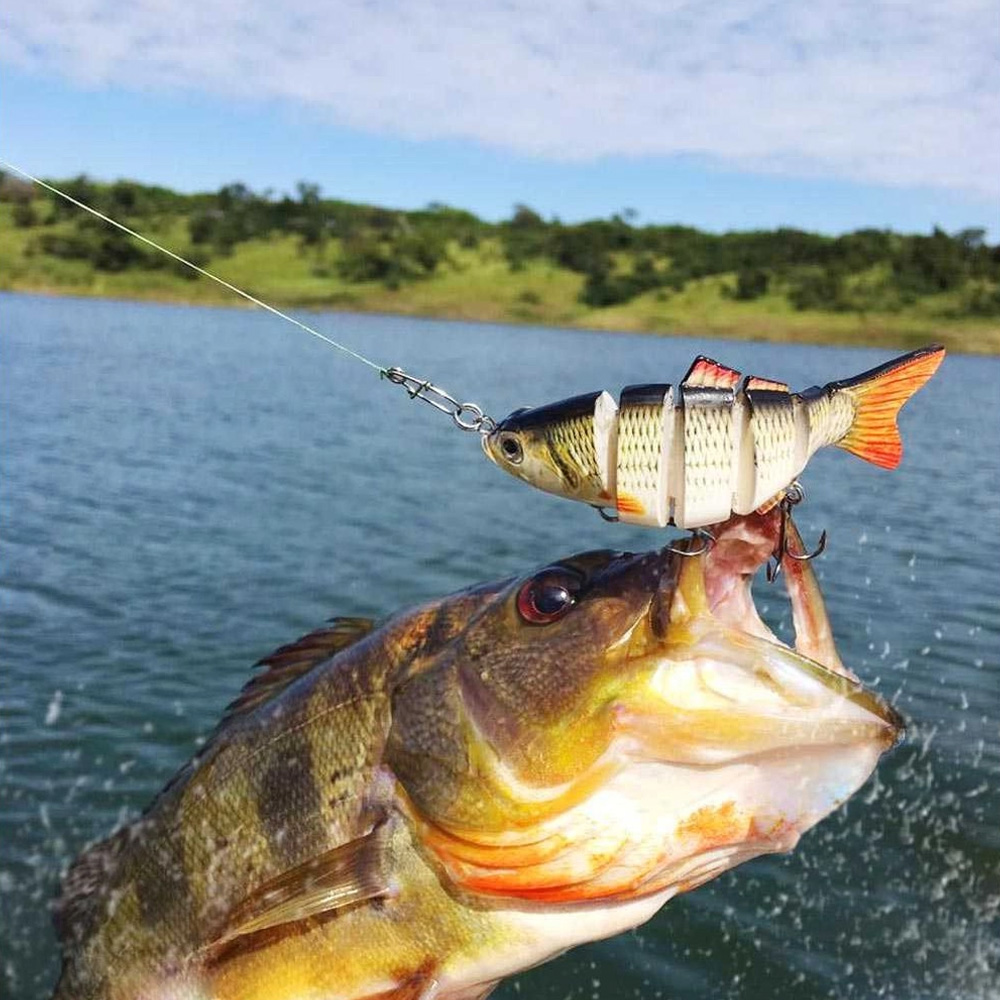 Isca Artificial Articulada Formato de Peixe para Pescaria Modelo 3  - Mundo Thata
