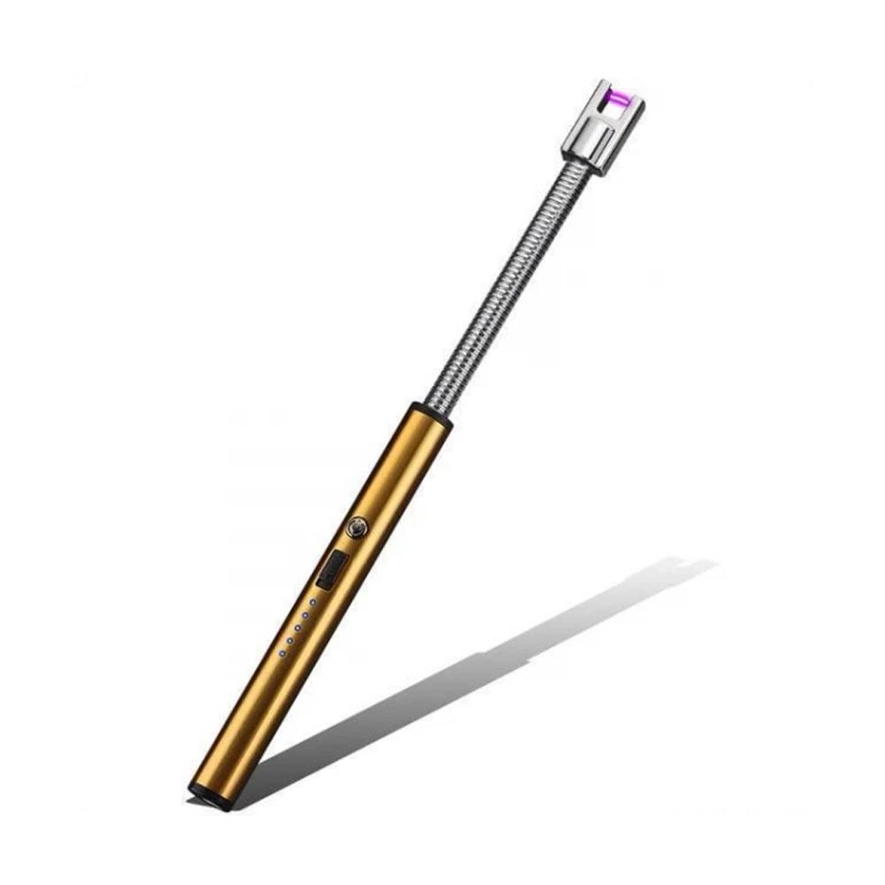 Isqueiro Acendedor Eletrônico Flexível com USB Recarregável Rotação 360 Graus em Aço Inoxidável  - Mundo Thata