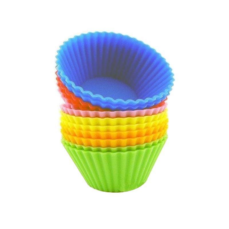 Kit 12 Formas Silicone Cupcake Muffins Queijadinha  - Thata Esportes