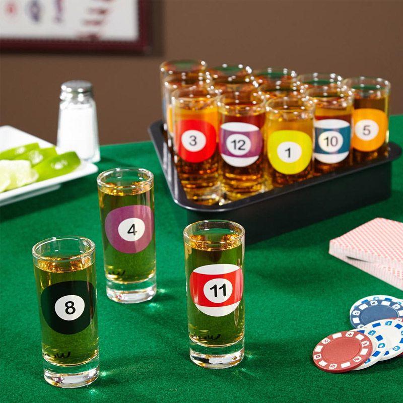 Kit 15 Copos Shot de Bilhar Sinuca Snooker  - Thata Esportes