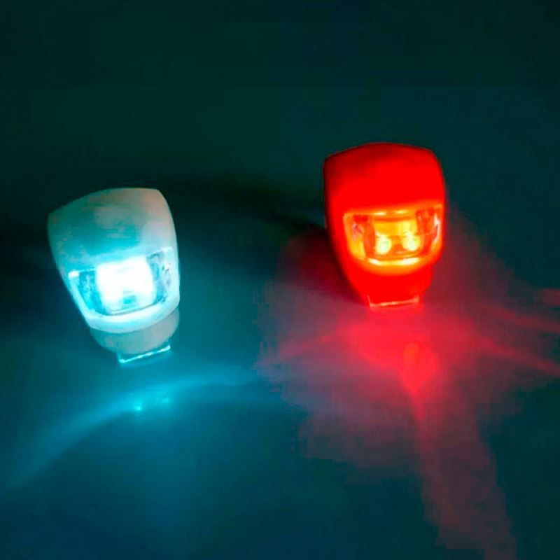 Kit 2 Lanternas Lâmpada de Alerta LED Sinalizadora para Bicicleta  - Thata Esportes
