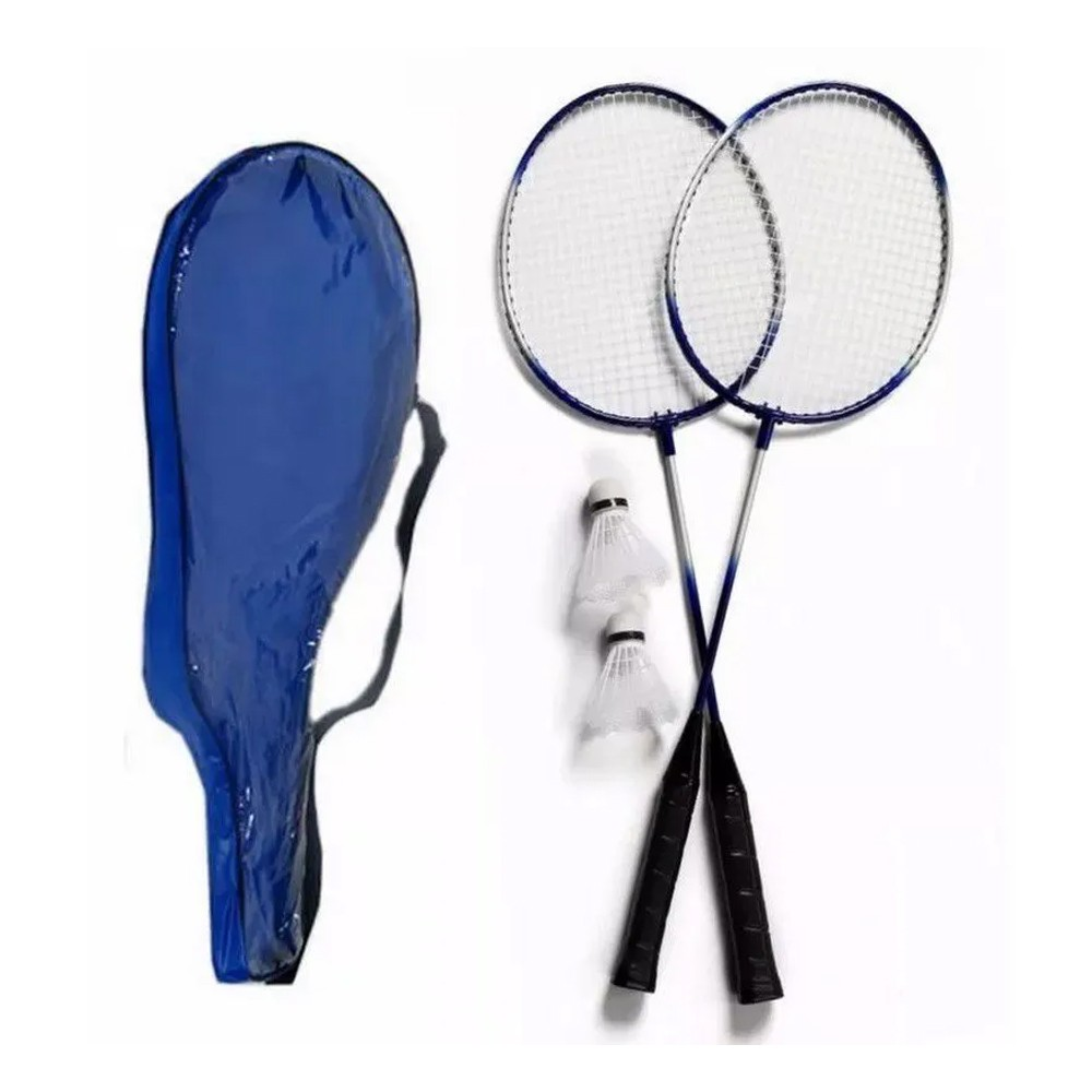 Kit 2 Raquetes Badminton 3 Petecas e Bolsa  - Mundo Thata