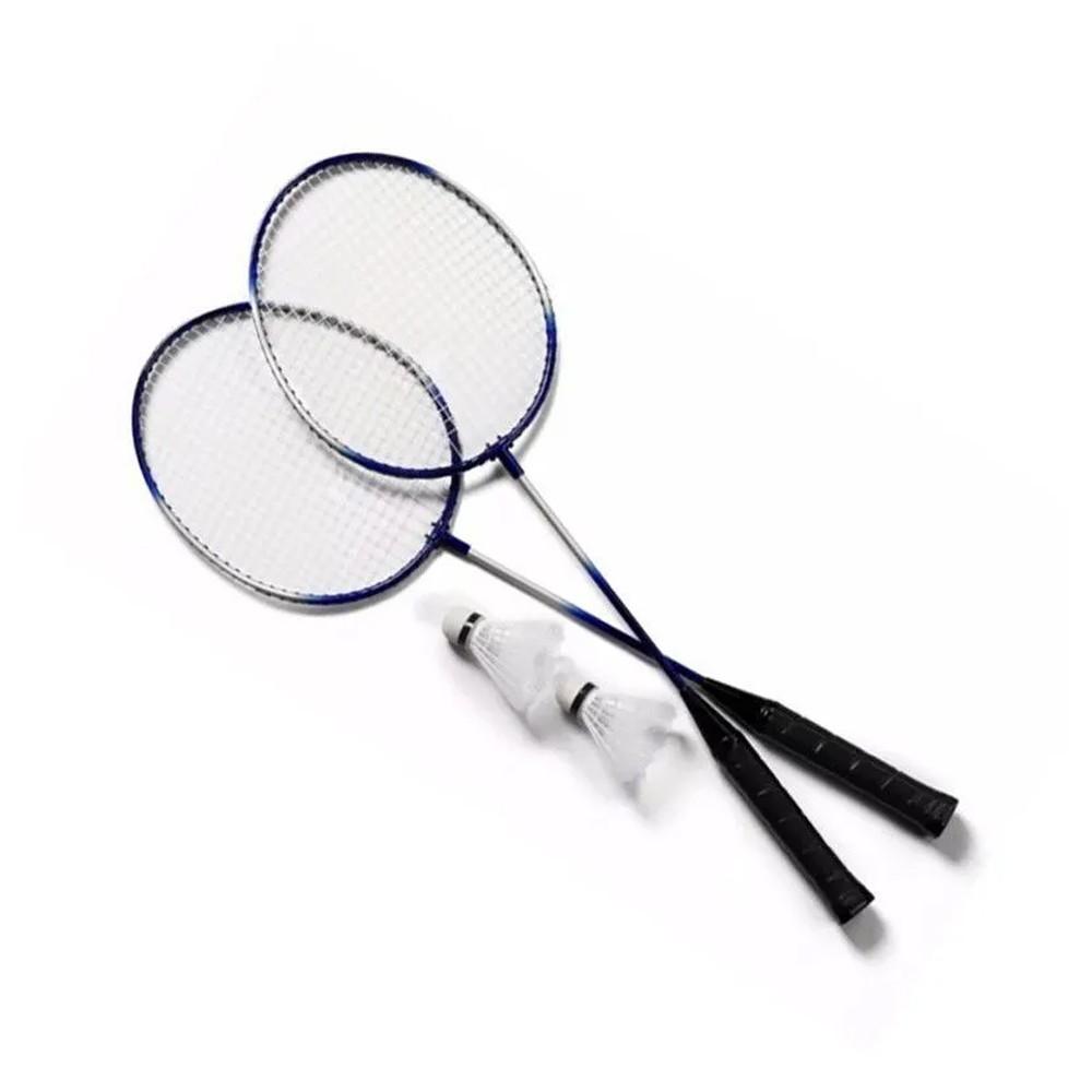 Kit 2 Raquetes Badminton Petecas e Bolsa  - Mundo Thata