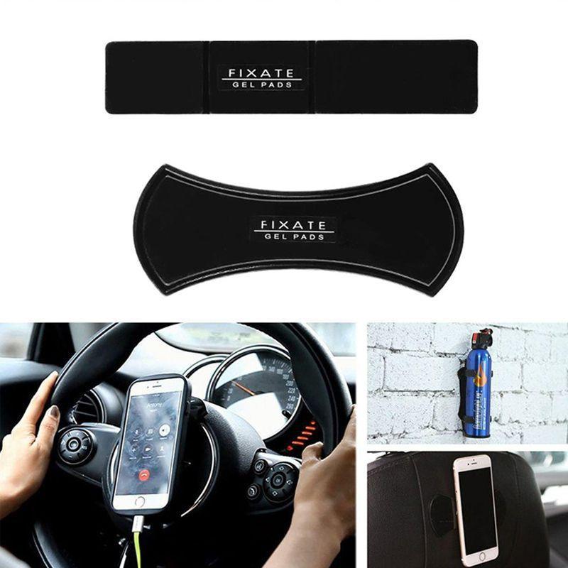 Kit 2 Suportes Fixador Mágico Multiuso Fixate Gel Pads Celular Carro  - Thata Esportes