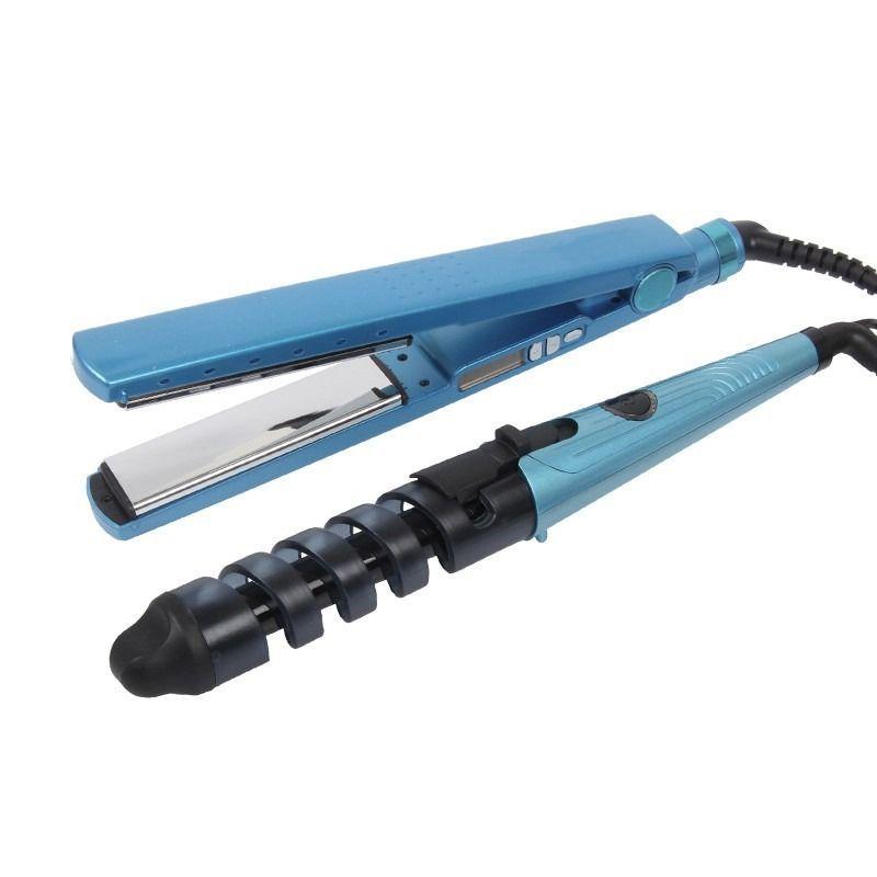 Kit 3 em 1 Prancha Chapinha Modelador Cacheador Pente Anti Estática Nano Titanium  - Thata Esportes