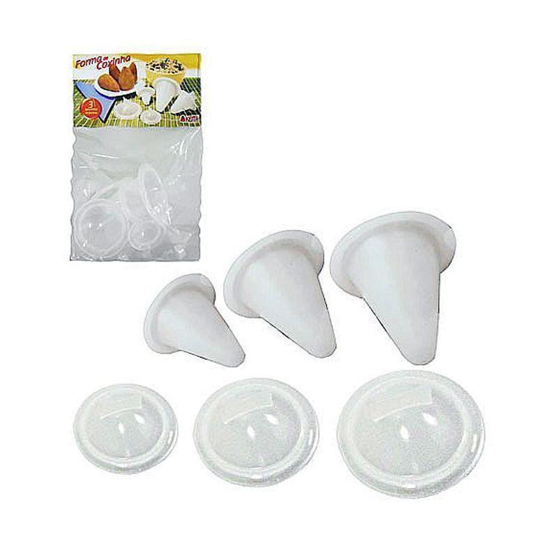 Kit 3 Formas de Coxinha  - Mundo Thata