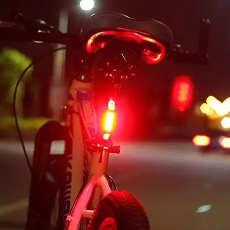 Kit 3 Lanternas Branca Azul e Vermelha Traseira Bike Led Sinalizador Usb Recarregável  - Mundo Thata