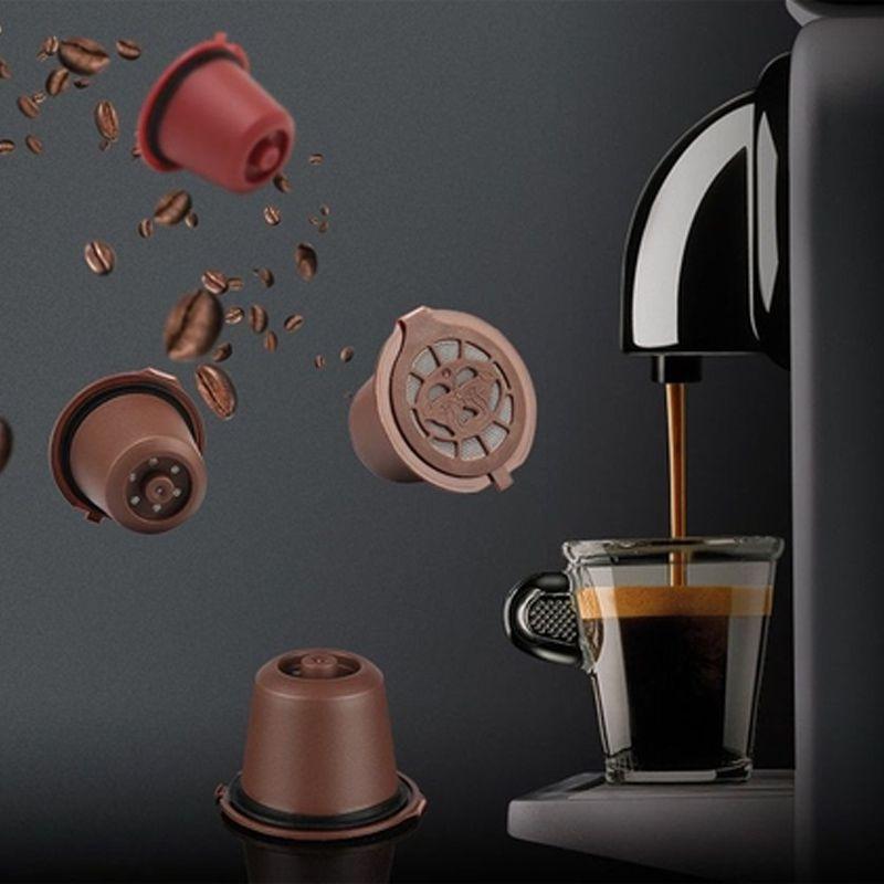 Kit 4 Cápsulas Reutilizável Café Recarregável Utilizado em Cafeteiras Nespresso  - Mundo Thata