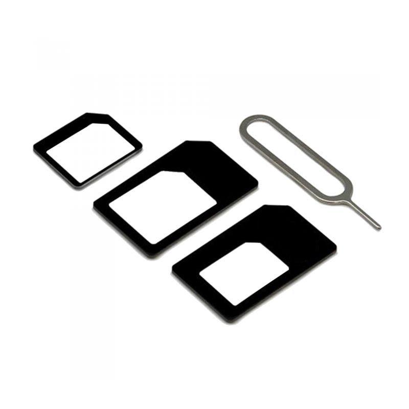 Kit 4 Em 1 Adaptador Chip Nano Micro Normal Sim Chave Ejetor De Chip  - Mundo Thata