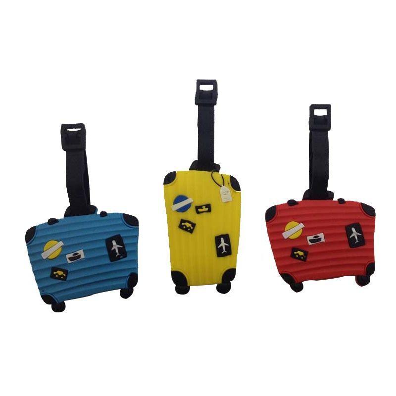 Kit 4 Etiquetas Identificação de Malas Bagagem Bolsas Viagem Bag Tag  - Thata Esportes