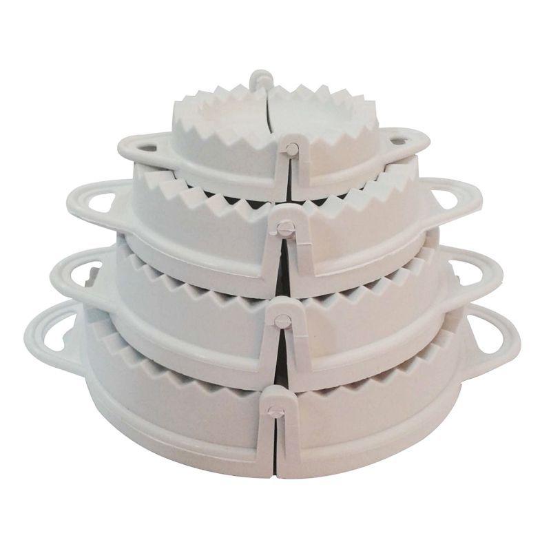 Kit 4 Formas Fazer Salgados Pastel Fogazza  - Thata Esportes