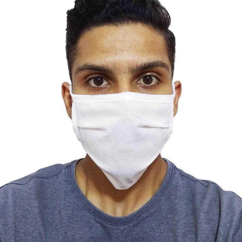 kit 50 Máscaras de Proteção Descartável Camada Dupla Fita Tiras Para Amarrar Contra Gripe Vírus  - Mundo Thata