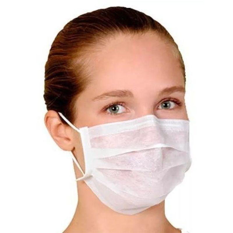 Kit 50 Máscaras Dupla Higiênicas Descartáveis com Elástico Protege de Gripes Vírus  - Mundo Thata
