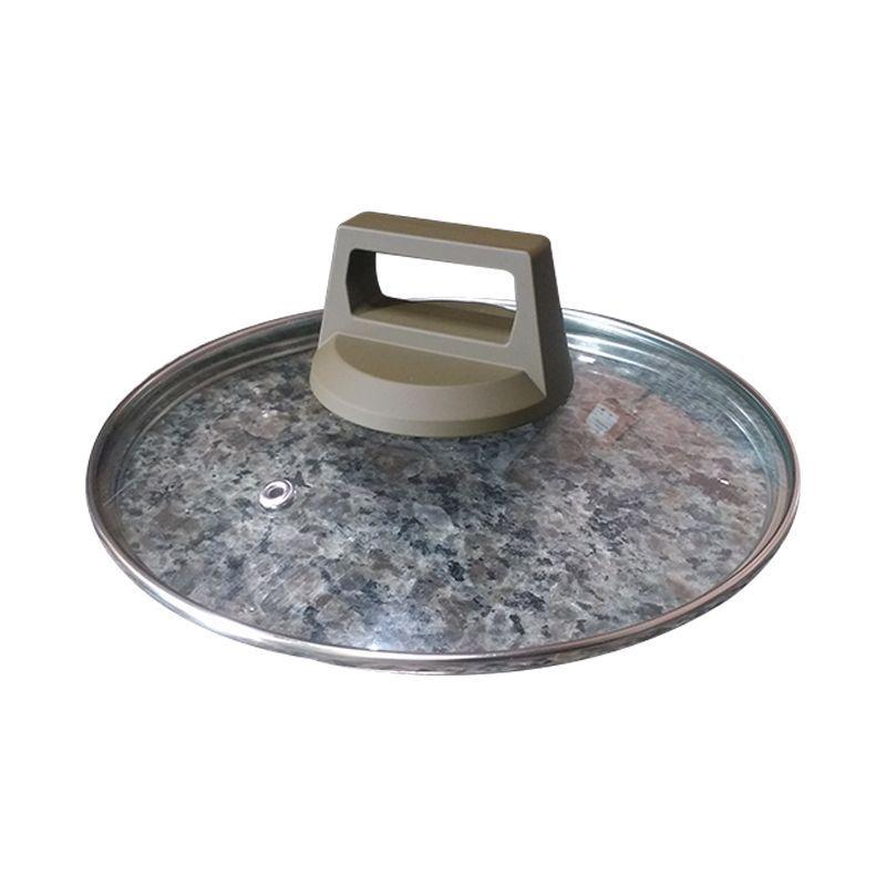 Kit 5 Panelas Revestimento Granito Tampas de Vidro 2 Colheres 12 Peças  - Mundo Thata