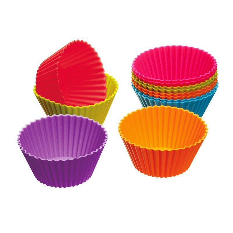 Kit 6 Formas Grande de Silicone Cupcakes Minibolos  - Thata Esportes