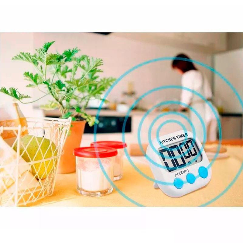Kit com 12 Timer Digital Profissional Multiuso   - Mundo Thata