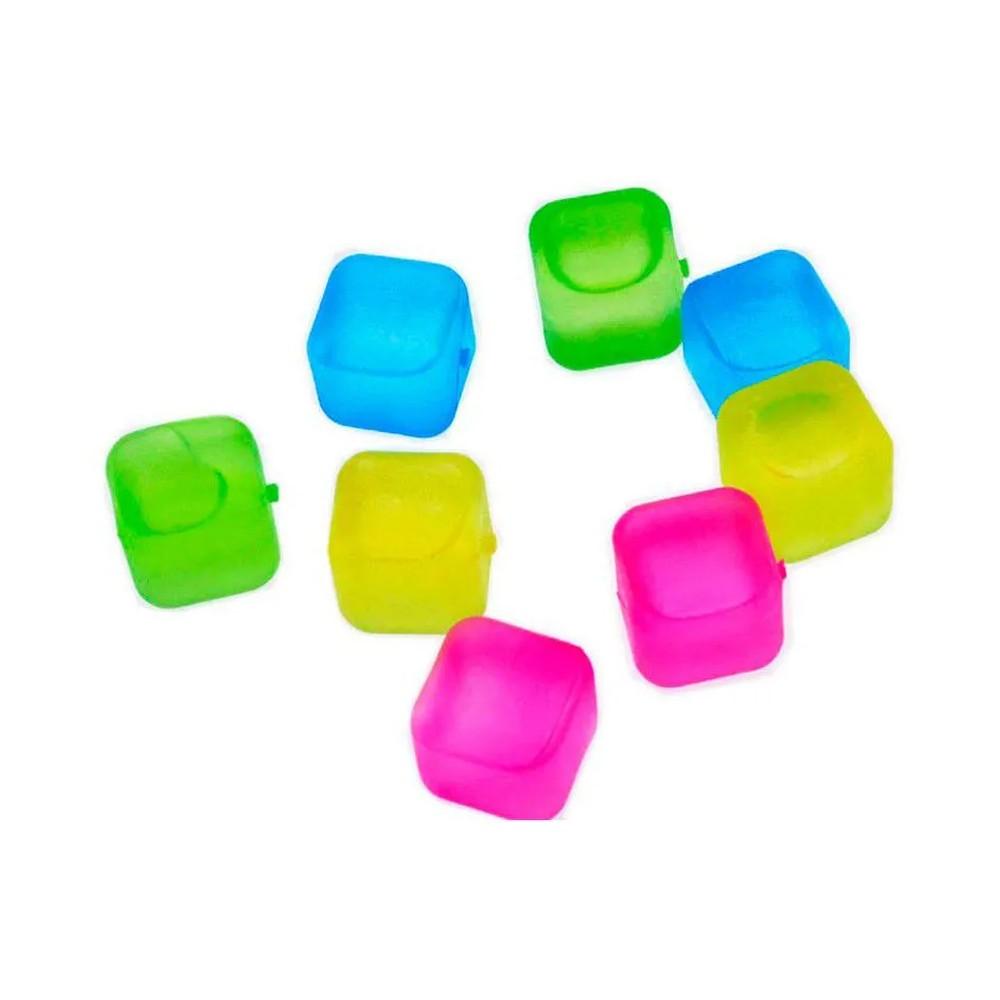 Kit com 8 Cubos de Congelar Gelo Ecológico  - Mundo Thata