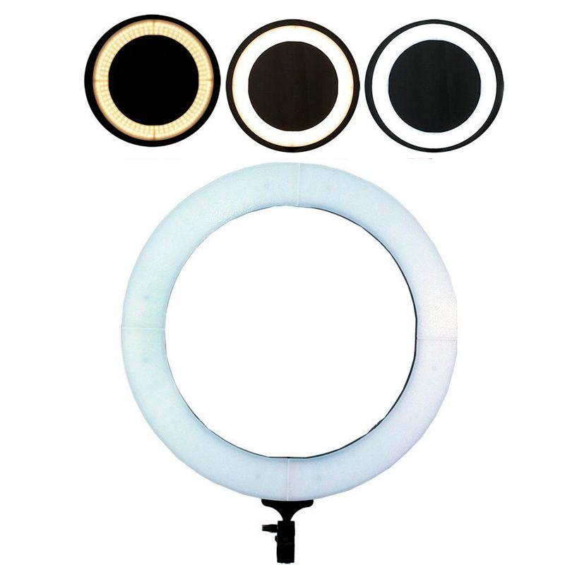 Kit com Iluminador de LED Ring 20 cm + Tripé de Iluminação Foto Video  - Mundo Thata