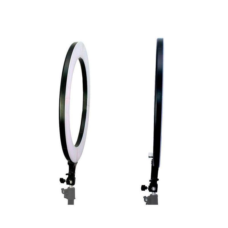 Kit com Iluminador LED Ring 16 cm + Tripé de Iluminação Foto Video  - Mundo Thata