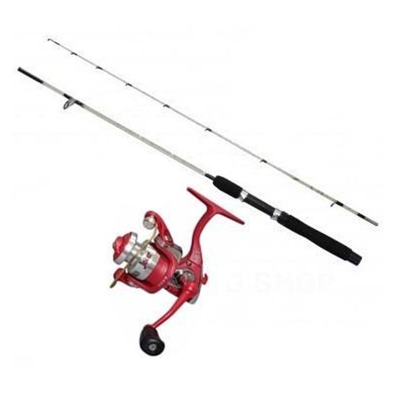 Kit de Pesca com Molinete Vara 1,80 31 Acessórios  - Mundo Thata