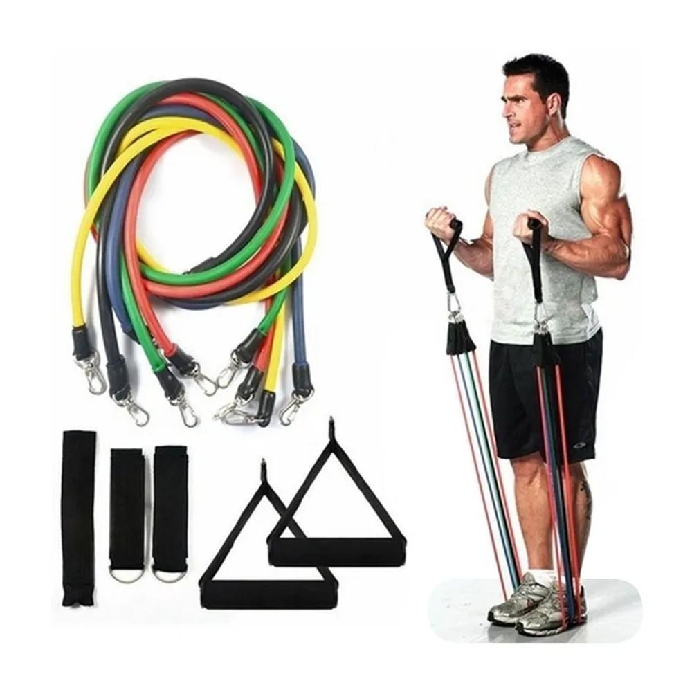 Kit Elásticos Para Exercícios Multi Tarefas Resistente Fitness  - Mundo Thata
