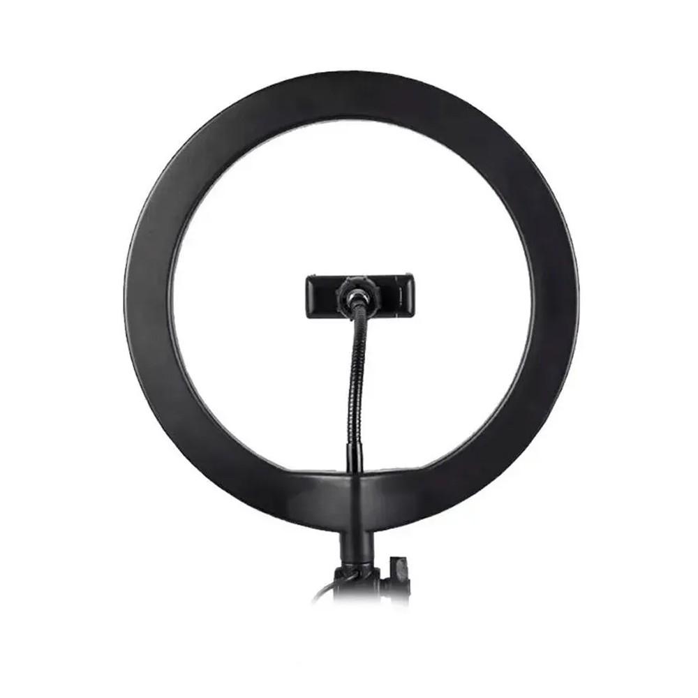 Kit Iluminador LED Ring 3 Cores 26 cm Tripé Iluminação Foto Video Suporte Telefone Móvel  - Mundo Thata