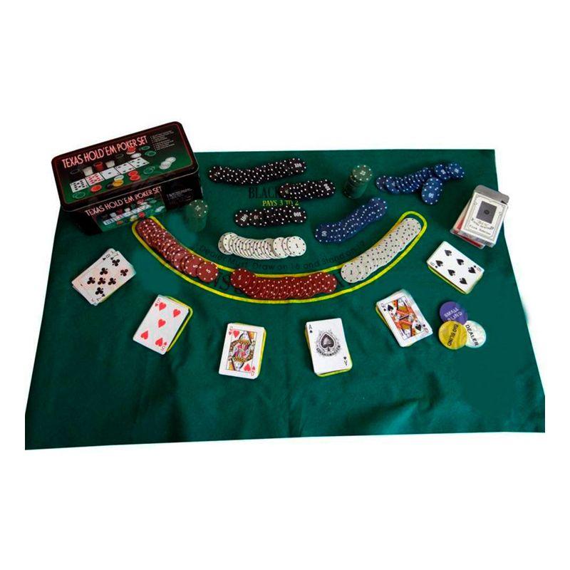 Kit Jogo de Poker Completo 200 Peças  - Thata Esportes