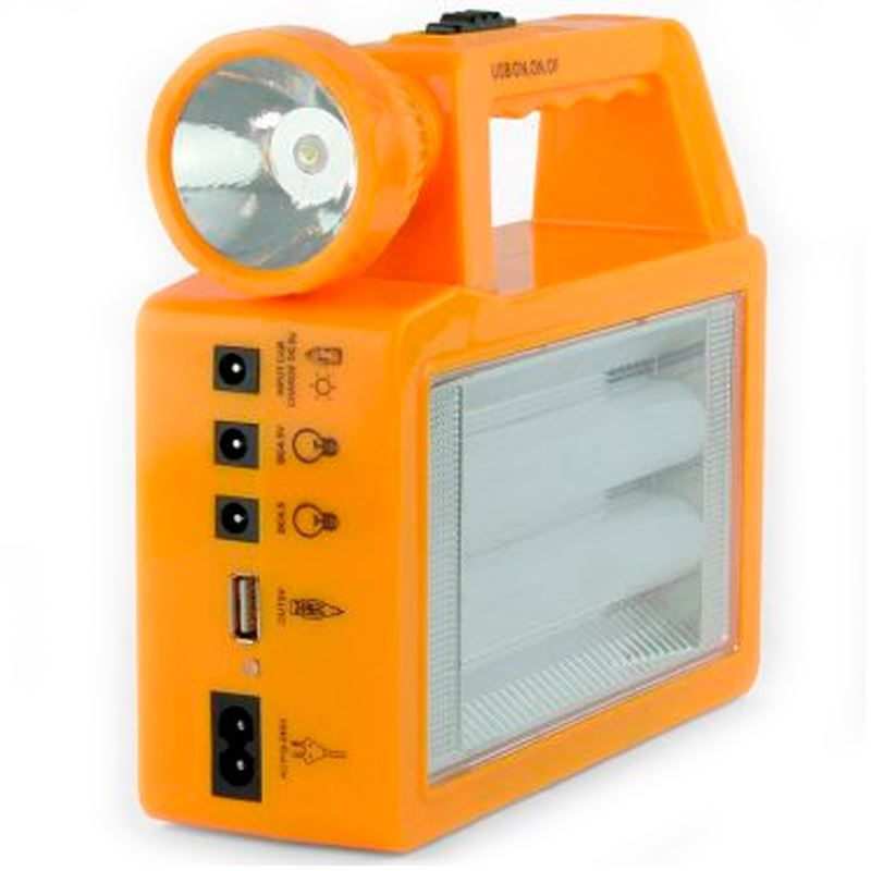 Kit Lâmpada Solar LED Carregador   - Thata Esportes