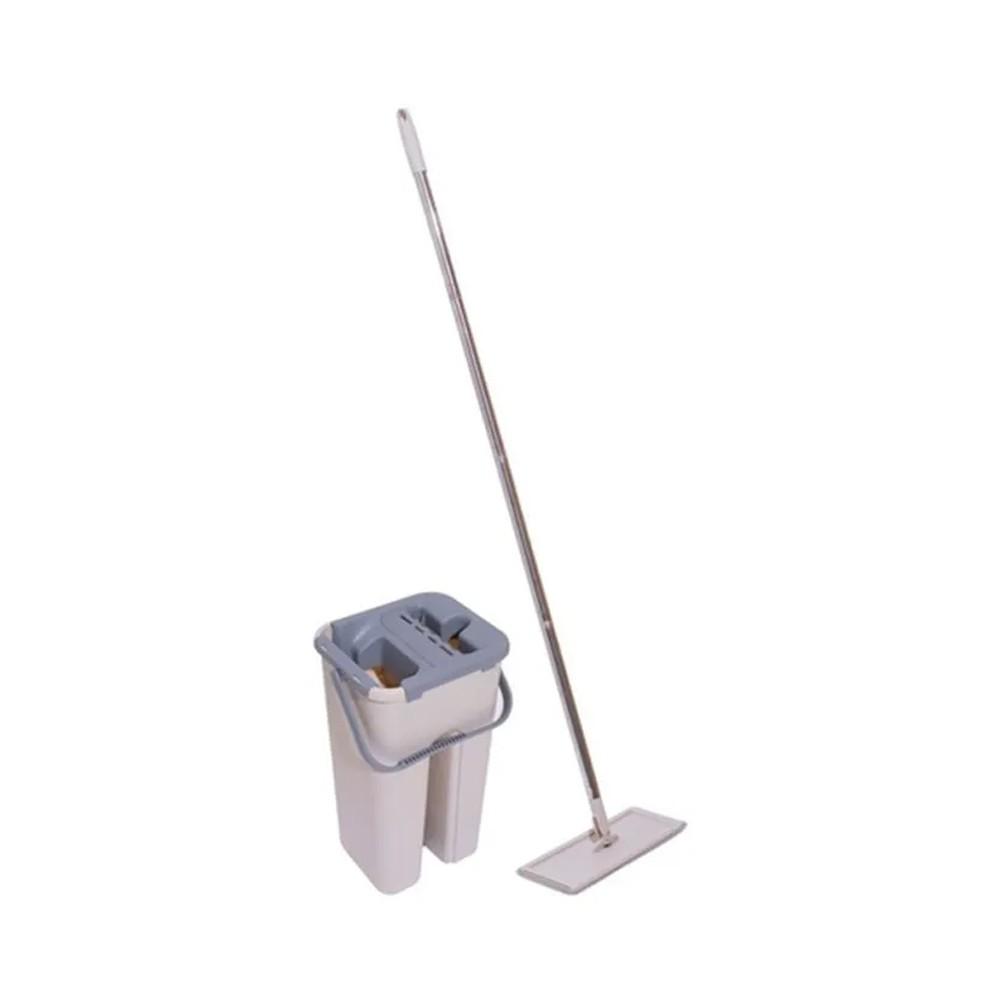 Kit Limpeza Mop flat  Esfregão Balde Limpador Multiuso Wash Dry Fast  - Mundo Thata