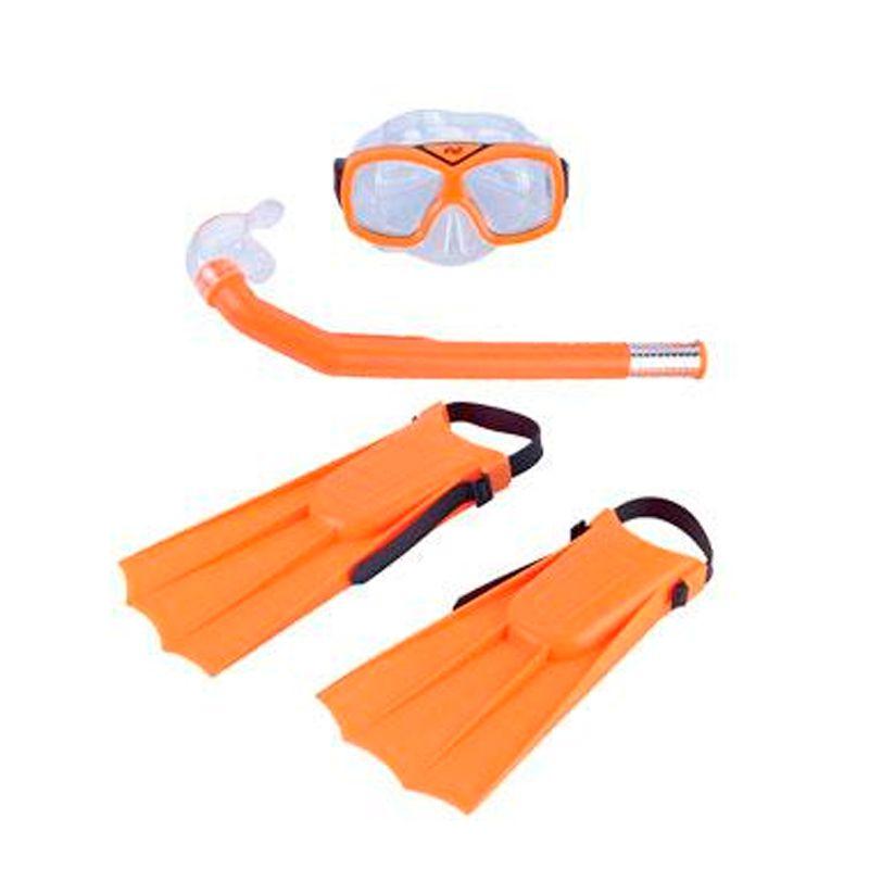 Kit Mergulho Infantil com Máscara Snorkel e Nadeira  - Thata Esportes
