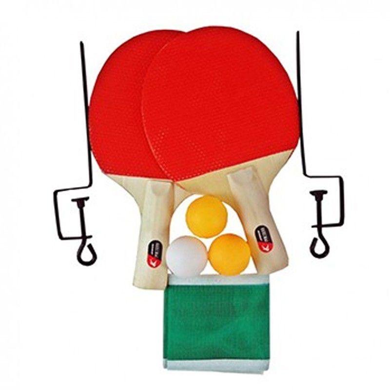 8a12eedd3 Kit Ping Pong Raquetes Bolinhas Rede Suporte - Thata Esportes
