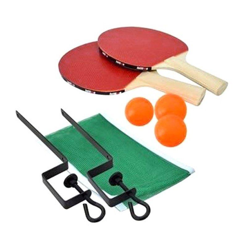 Kit Ping Pong Raquetes Bolinhas Rede Suporte  - Thata Esportes