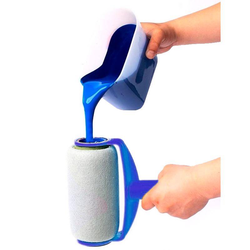 Kit Pintura Fácil Inteligente Paint Roller Sem Sujeira 6 Peças  - Mundo Thata