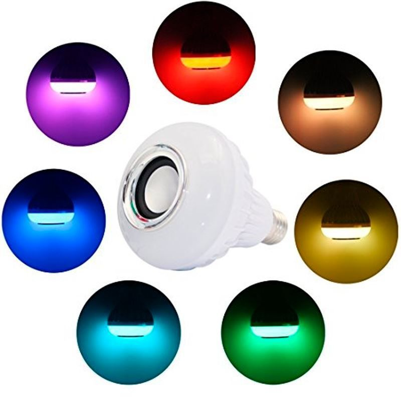 Lâmpada LED Music Bluetooth com Controle  - Thata Esportes