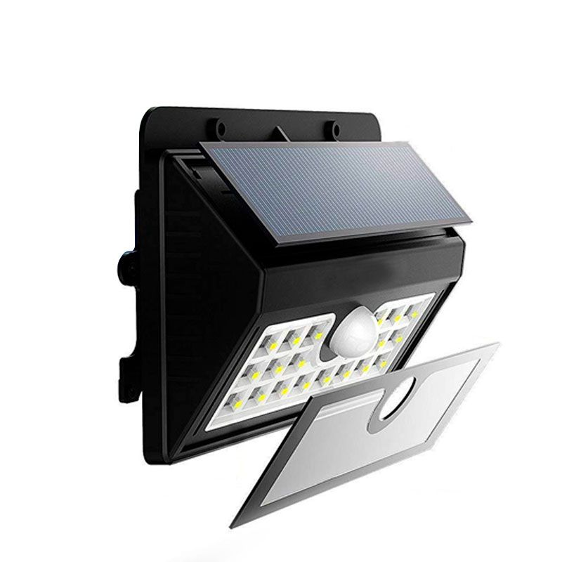 Lâmpada Luminária Solar de Parede A Prova de Água com Sensor de Presença Grande  - Mundo Thata