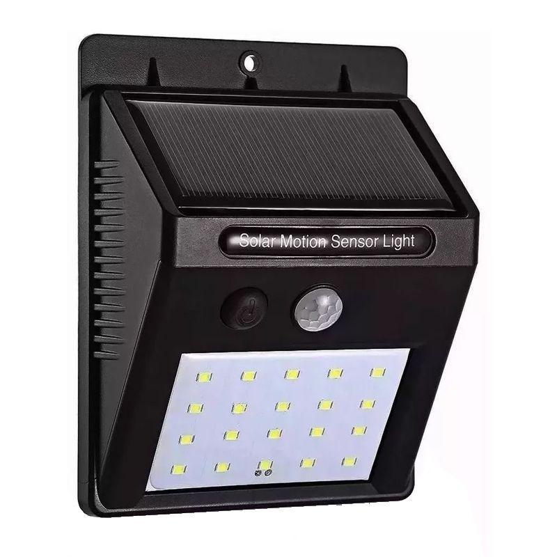 Lâmpada Luminária Solar de Parede A Prova de Água com Sensor de Presença Pequena 25 LEds  - Mundo Thata
