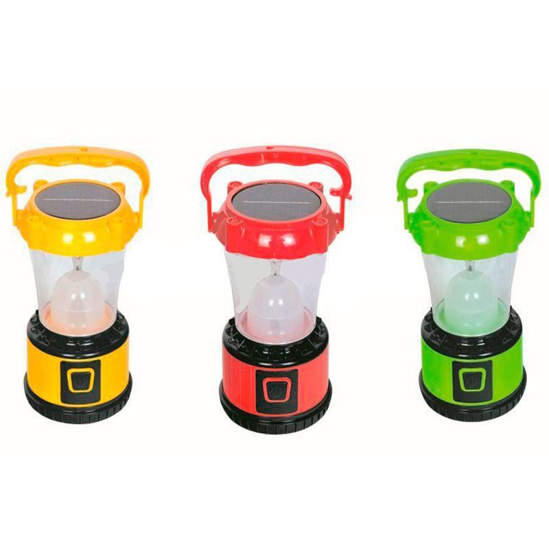 Lampião Camping de LED Recarregável e Solar  - Thata Esportes