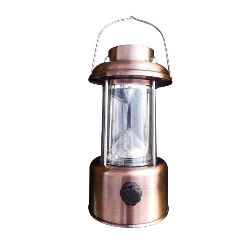 Lampião Lanterna de Cobre LED  - Thata Esportes