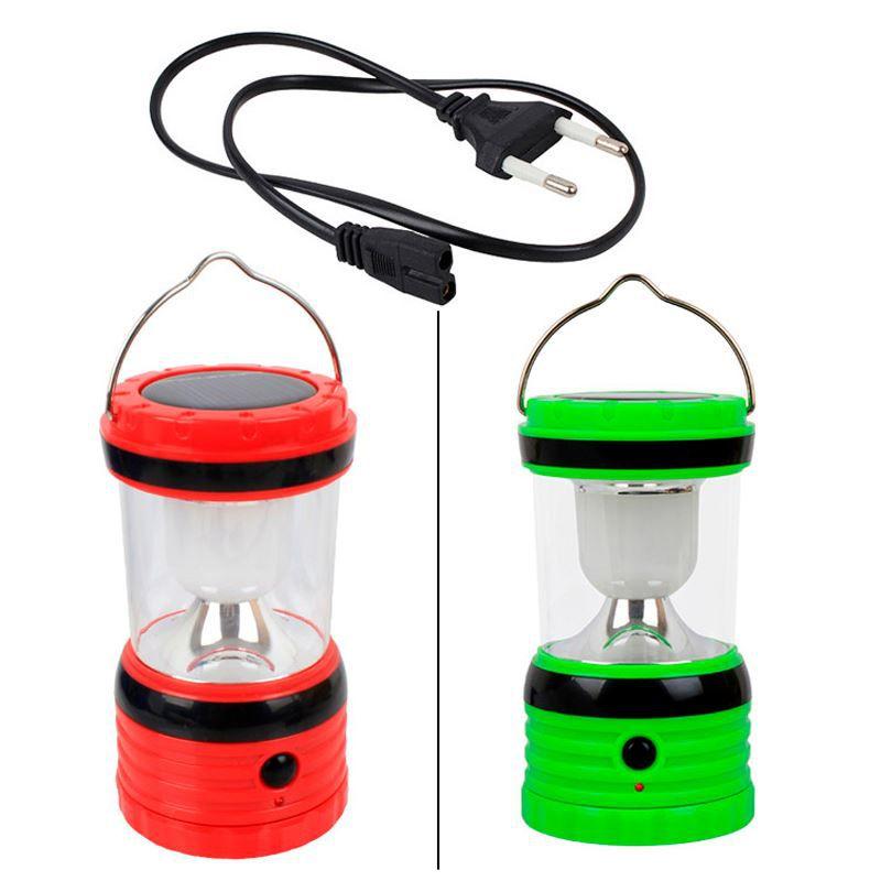 Lampião LED Lanterna Solar Retrátil  - Thata Esportes