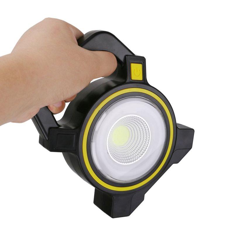 Lanterna Holofote Emergência Carregamento USB Solar Luz LED PowerBank  - Thata Esportes