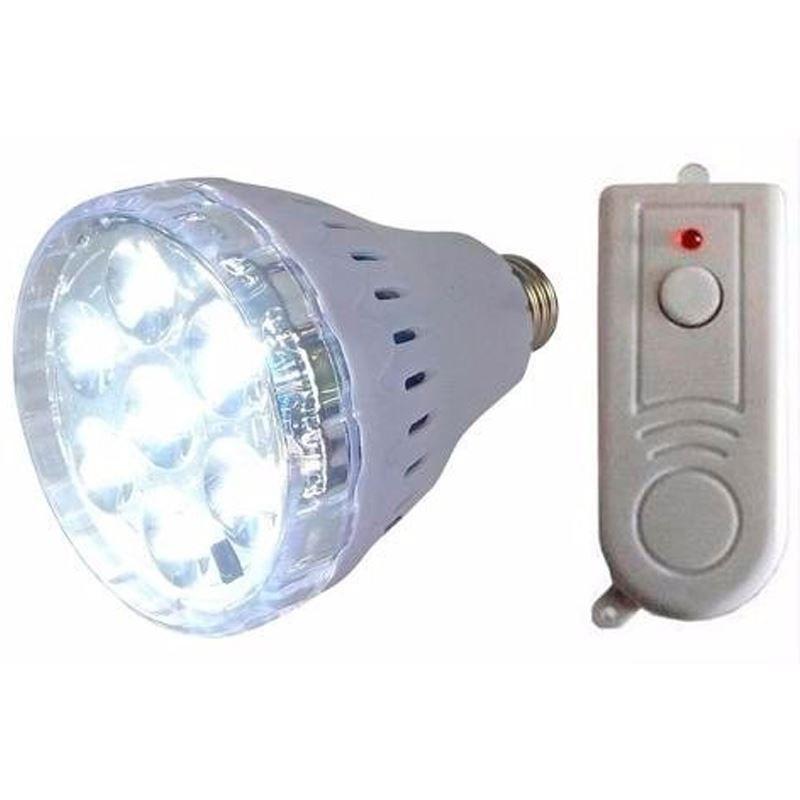 Lanterna Lâmpada Multi Uso Recarregável 7 LEDs com Controle Remoto  - Thata Esportes