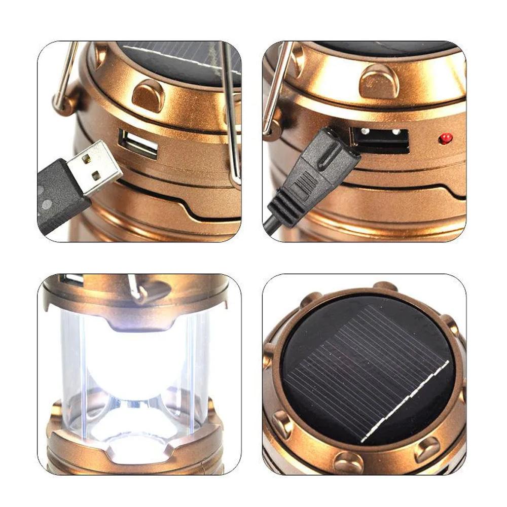 Lanterna Lampião Solar Retrátil para Camping  - Mundo Thata