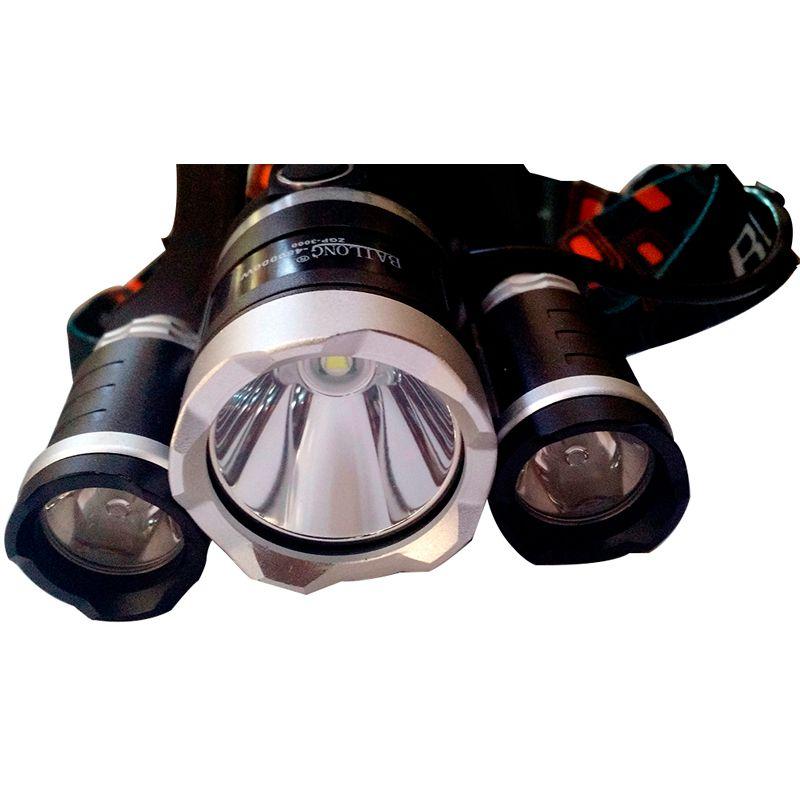 Lanterna LED 2 Em 1 Cabeça  Bike ZGP-3000  - Thata Esportes
