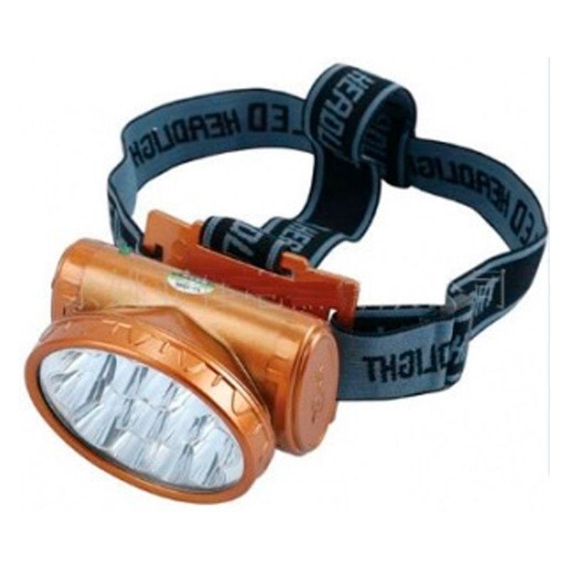 Lanterna Recarregável com 13 LEDs para Cabeça  - Thata Esportes