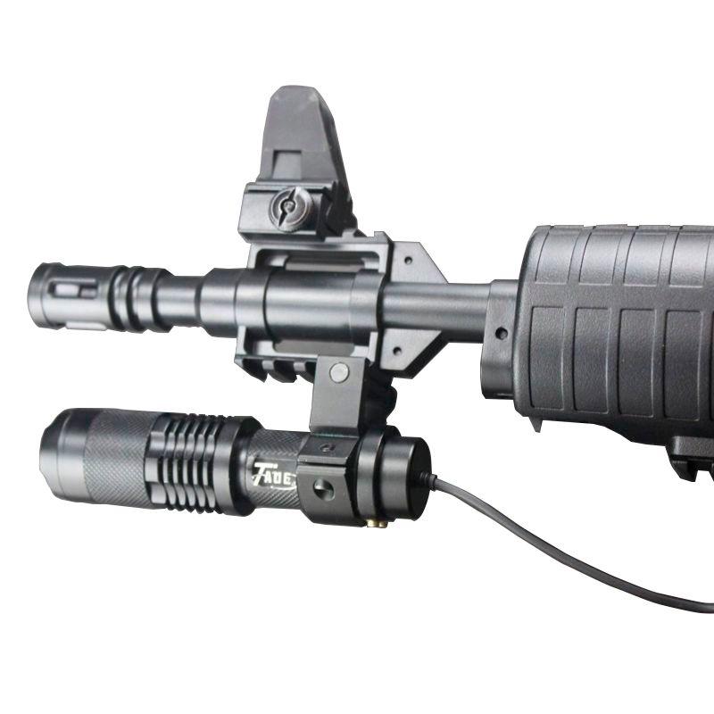 Lanterna Tática LED Cree T6 com Acionador Remoto  - Mundo Thata