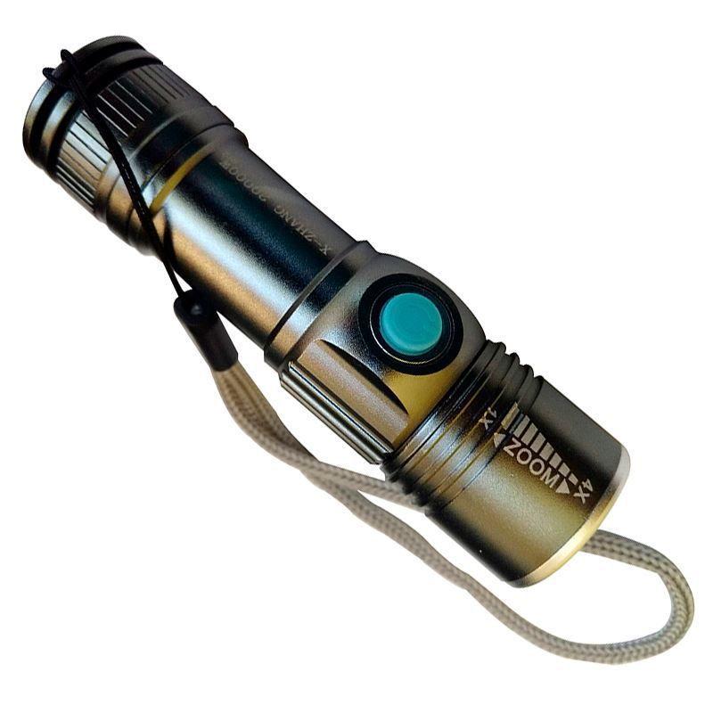 Lanterna Tática Policial Recarregável USB LED  - Thata Esportes