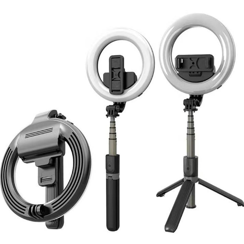 Ring Light Suporte Tripé Controle Bluetooth Selfie Stick Led  - Mundo Thata
